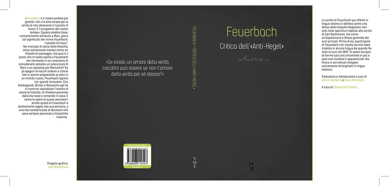 La copertina e il retro di «Critica dell'Anti-Hegel»